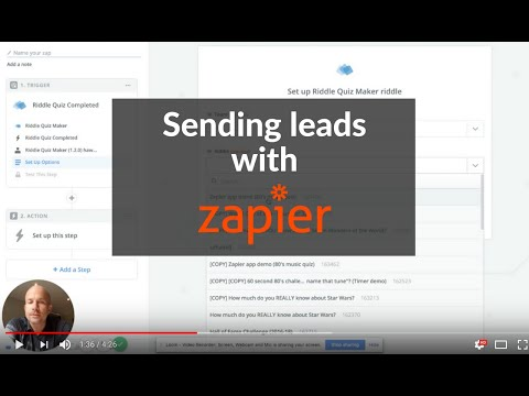 Connecting Riddle quiz maker to Zapier