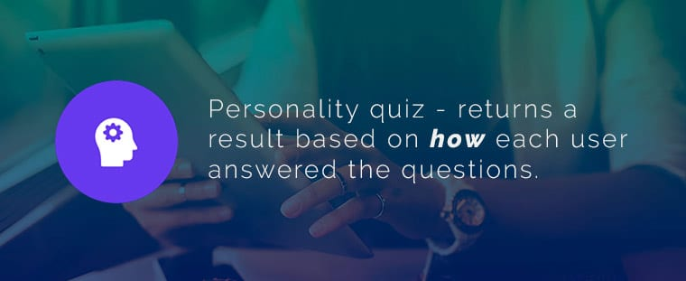 What is a personality quiz?