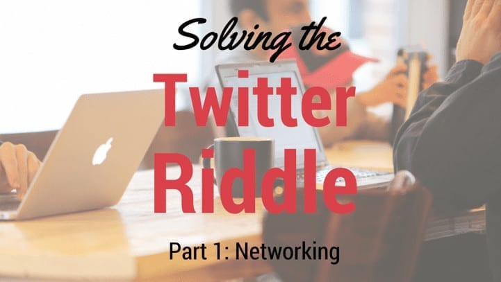 Image for article on Networking with Twitter and Riddle's quiz maker