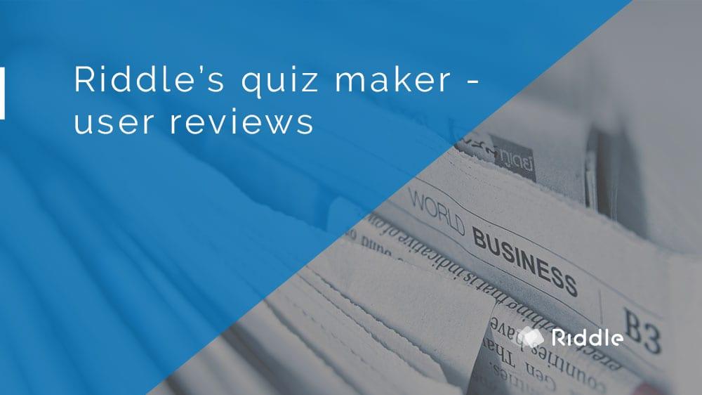quiz maker reviews