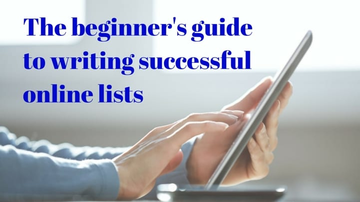 Quick beginners tips for writing