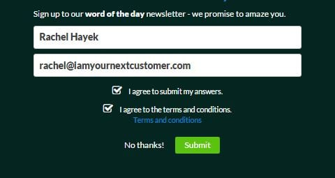 Using quizzes for lead generation - perfect with MailChimp integration