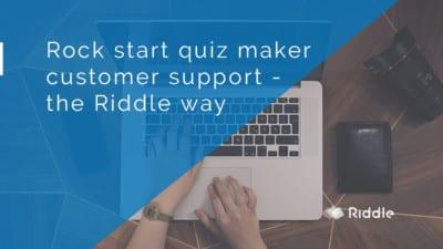 quiz maker customer support
