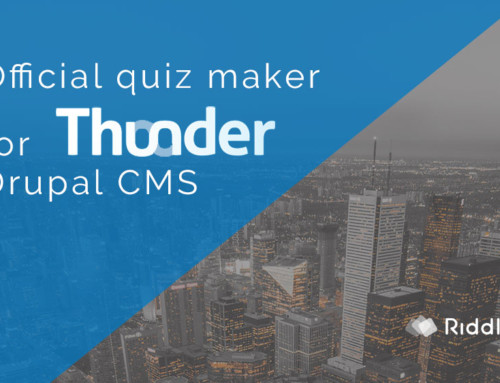 Official Drupal quiz maker (Thunder CMS)
