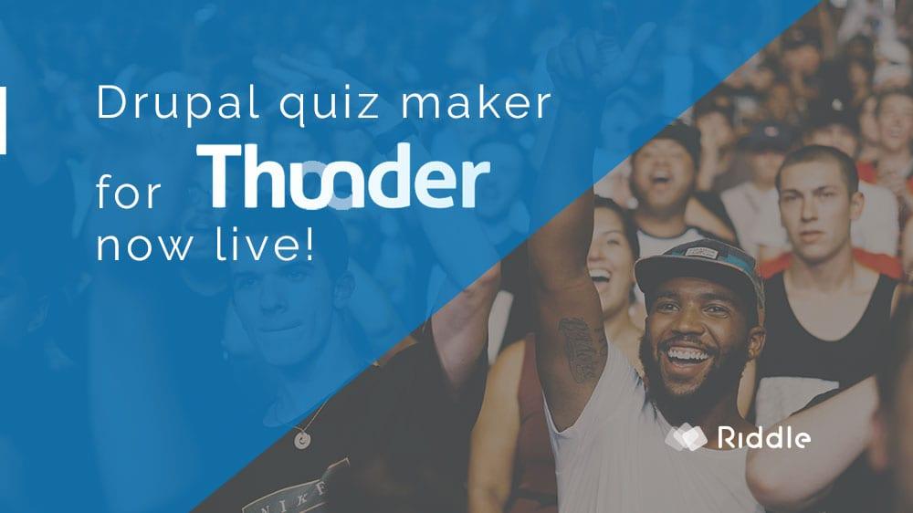 Thunder CMS Drupal quiz maker