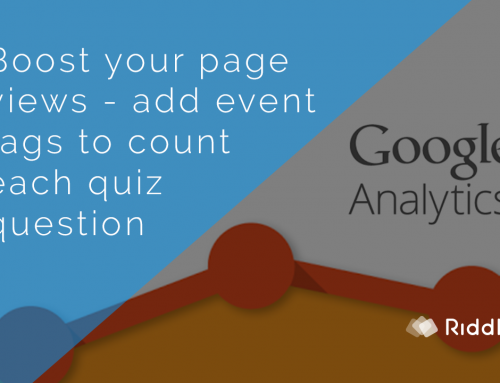 Add Google Analytics tags to your Riddles (Riddle University)