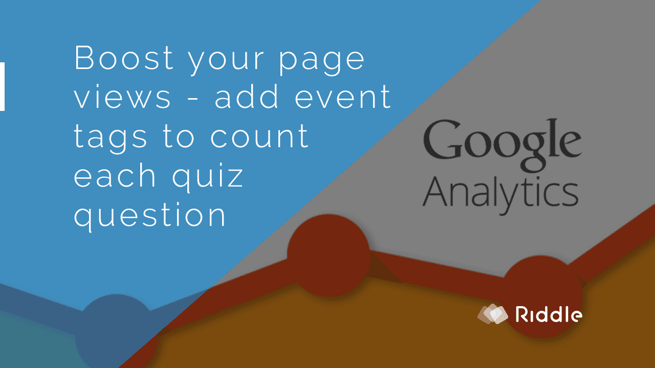 Add your own tags to boost page views in google analytics - count each quiz question