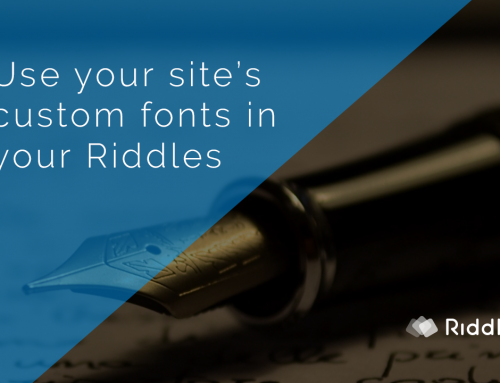 Create a quiz matching your site's custom fonts