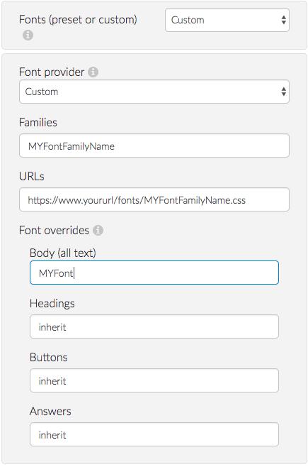 Custom Font Setting