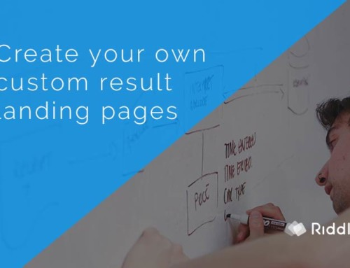 Build a custom result landing page for your quiz
