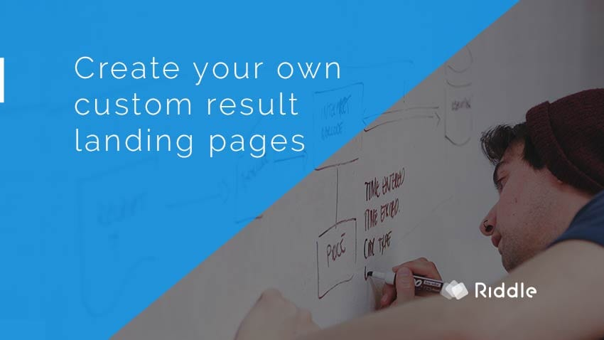 custom result landing page