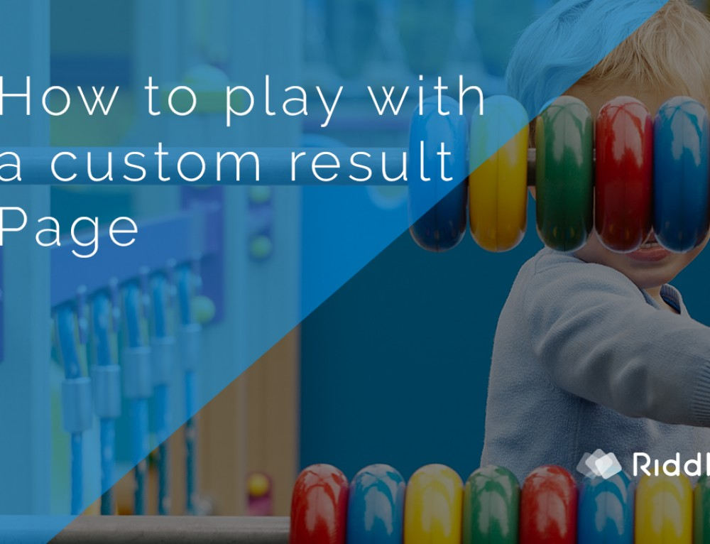 How to test a custom result landing page