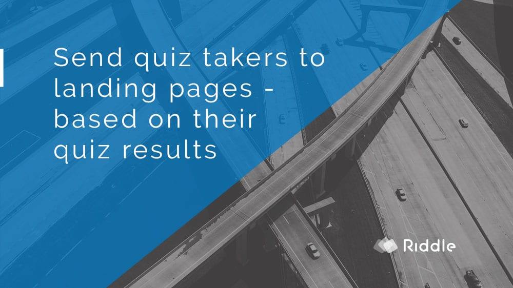 quiz result landing pages