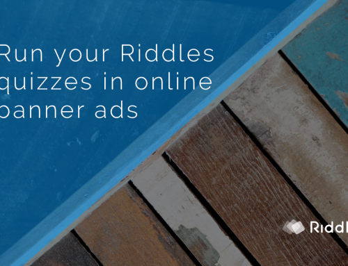 Place your Riddle quiz in banner ad units
