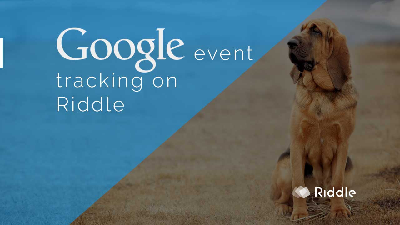 Google event tracking with Riddle