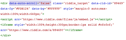 Squarespace - add embed code with small change