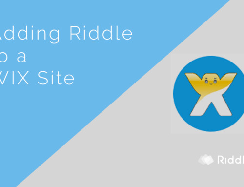Add your Riddle quiz to a WIX page