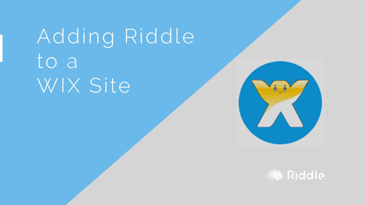 Adding Riddle to a WIX site