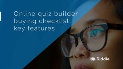 online quiz builder checklist