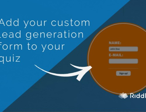 Collect quiz emails with a custom lead generation form