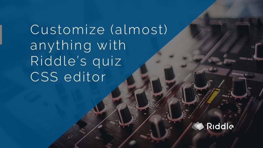 CSS quiz editor