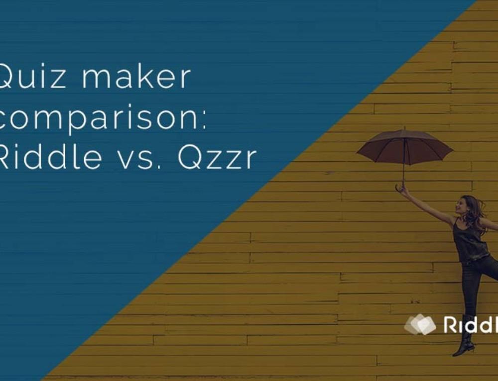 Quiz Maker Comparison: Riddle vs. Qzzr
