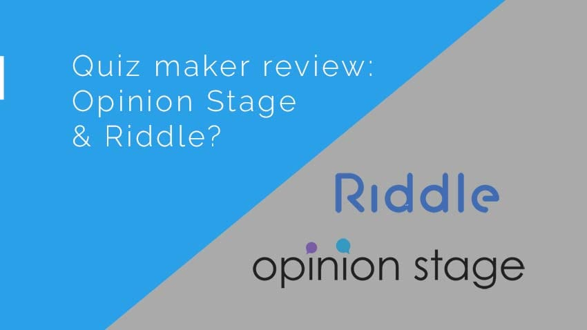 Quiz maker review: Riddle or Opinion Stage?