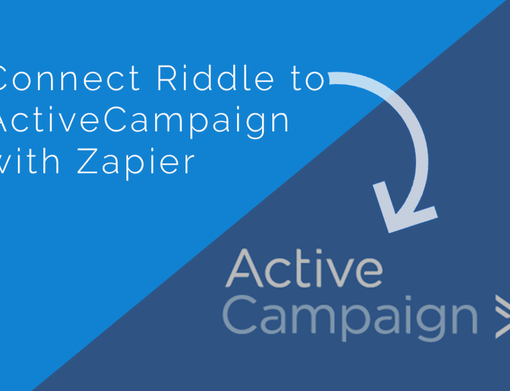 ActiveCampaign lead generation and Riddle