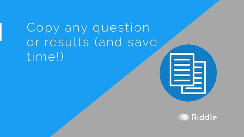 Copy quiz questions or results