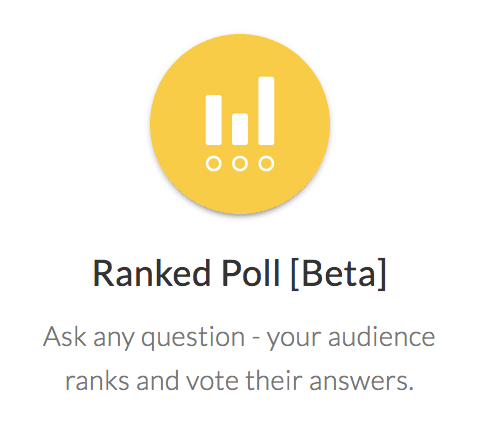 Ranked poll