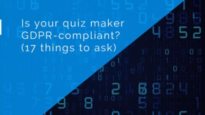 GDPR quiz maker infographic