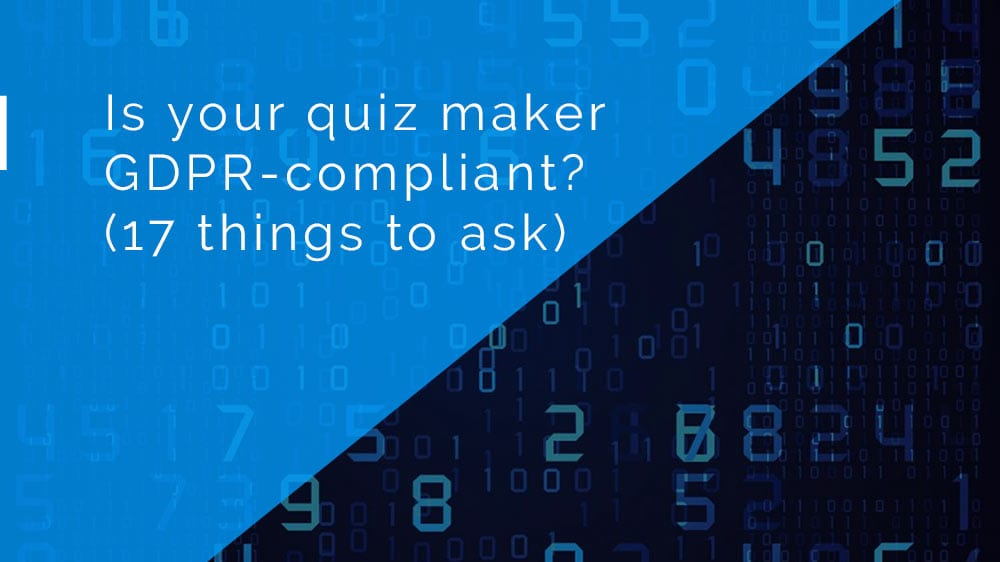 Infographic: Is your quiz maker GDPR compliant?