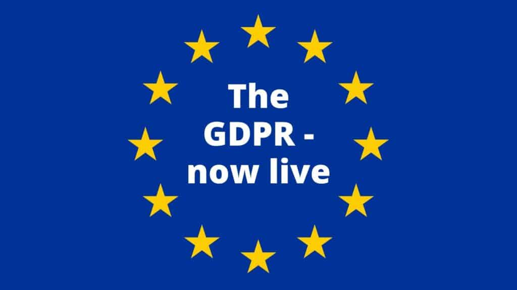 GDPR now live