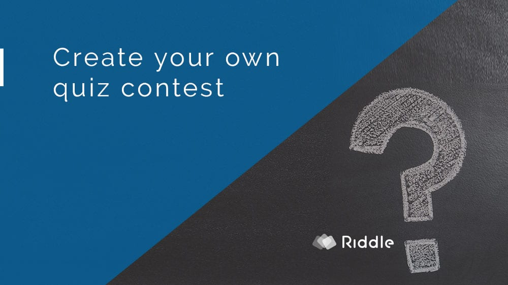 Quiz contest using Riddle's quiz maker