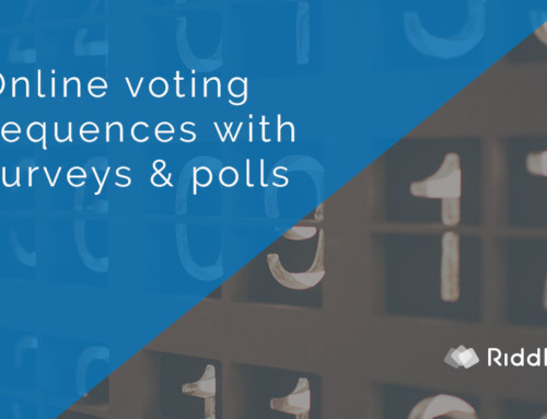Online voting sequence with polls and surveys