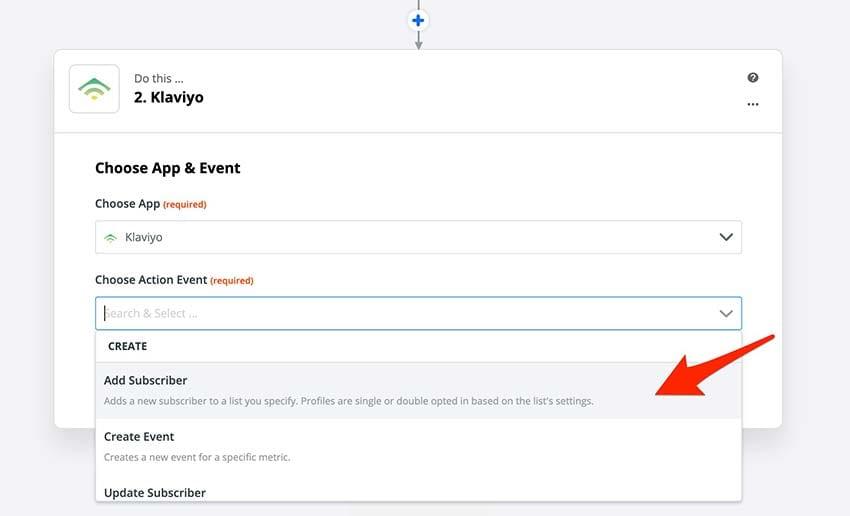 klaviyo add subscriber in zapier
