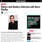 Kivo Daily Interview with Boris Pfeiffer