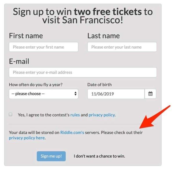 ccpa-compliant quiz maker screenshot