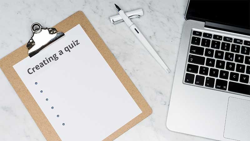 Create a quiz tutorial