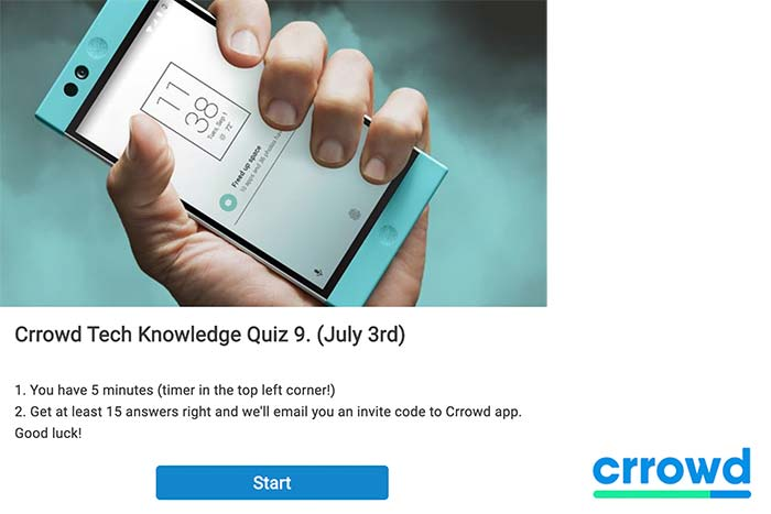 crrowd weekly quiz riddle quiz maker