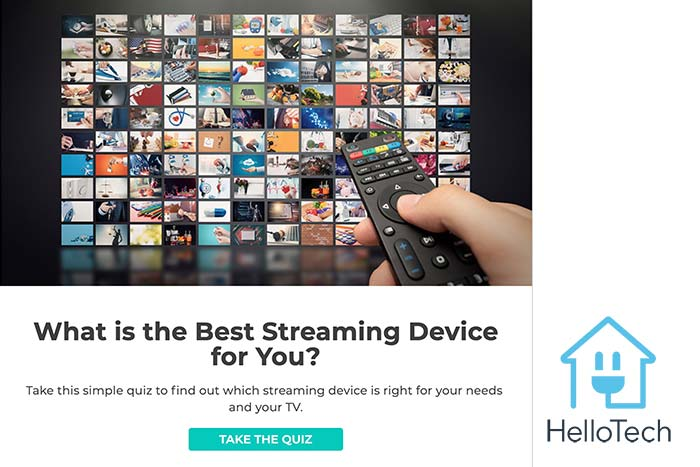 Hellotech product recommendation quiz