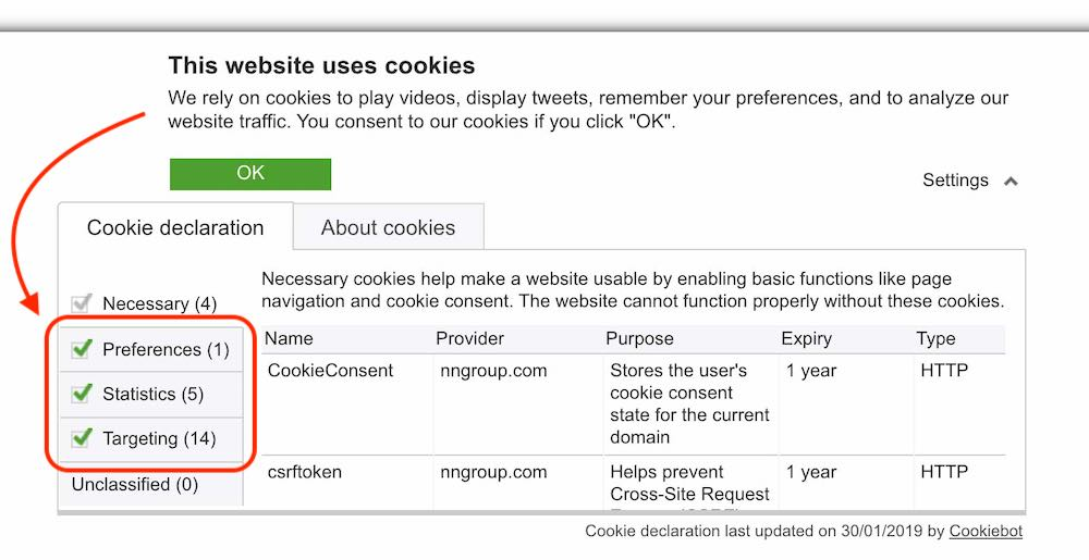 cookies opt-out example - gdpr for small business