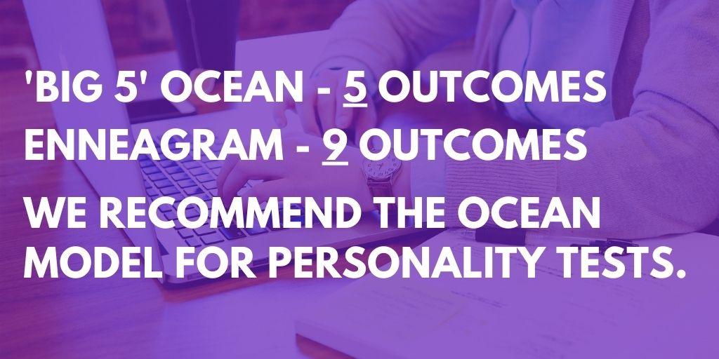 The OCEAN model versus ENNEAGRAM personality traits