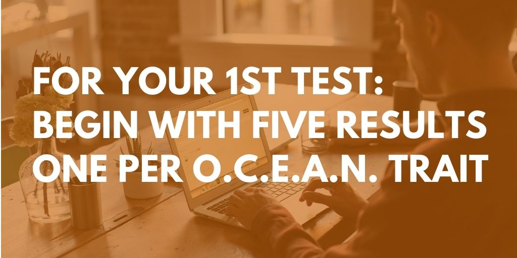 Big five personality test - start with five results