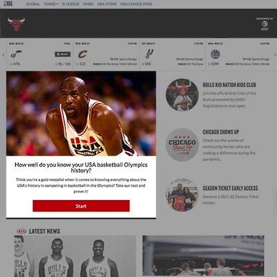 Riddle Quiz on Chicago Bulls Website