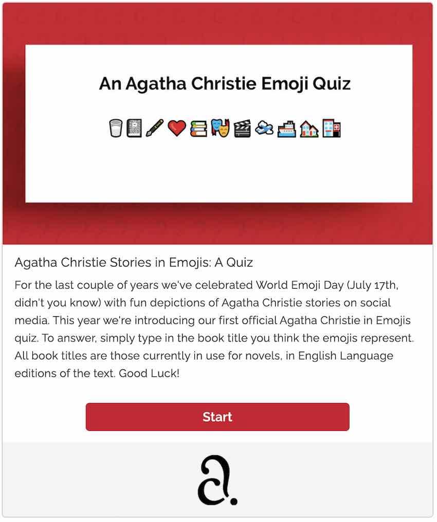 emoji quizzes - agatha christie