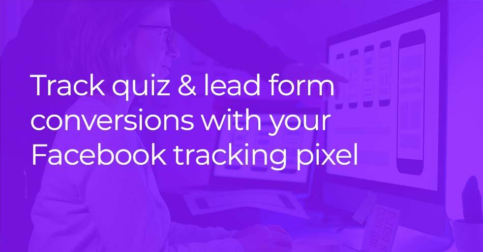 Facebook conversion pixel and Riddle quiz maker