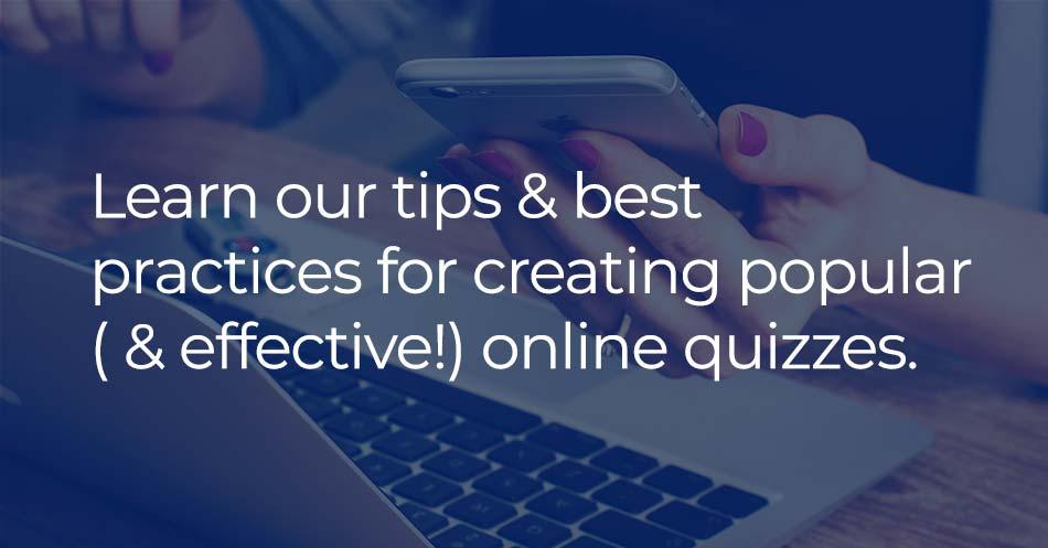 online quiz best practices