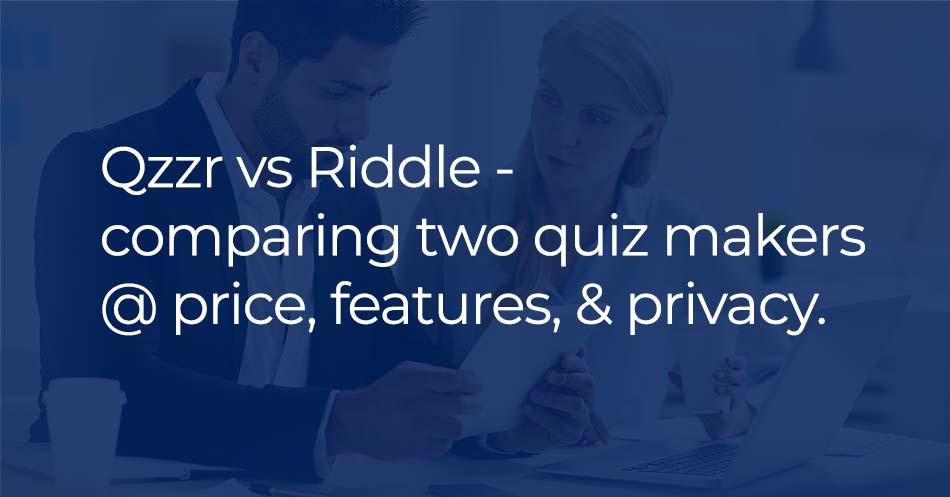 quiz maker comparison - qzzr Riddle