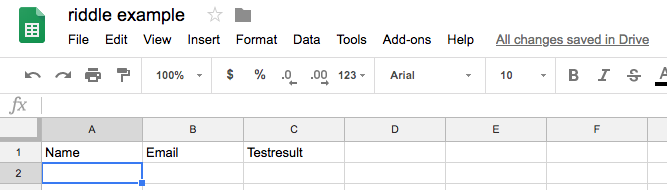 Setting up a Google Sheet for Riddle Quiz Maker